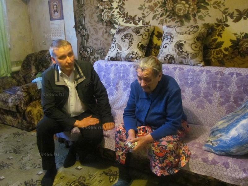 А.А. Хохряков с труженицей тыла Майдановой Елизаветой Семёновной