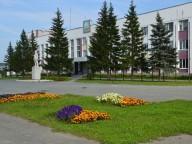 Площадь, цветы