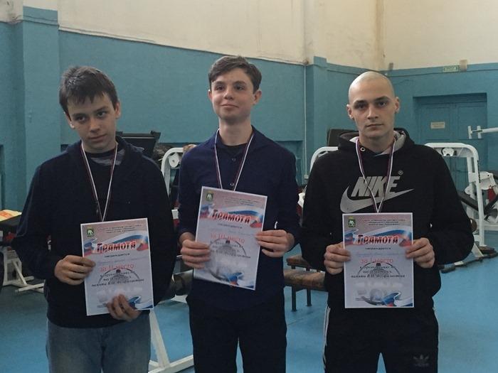 Победители в категории юноши до 16 лет. Торгашев Ярослав, Бляхман Леонид, Колмаков Олег.