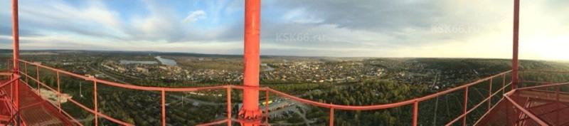 Вид на город с новой вышки